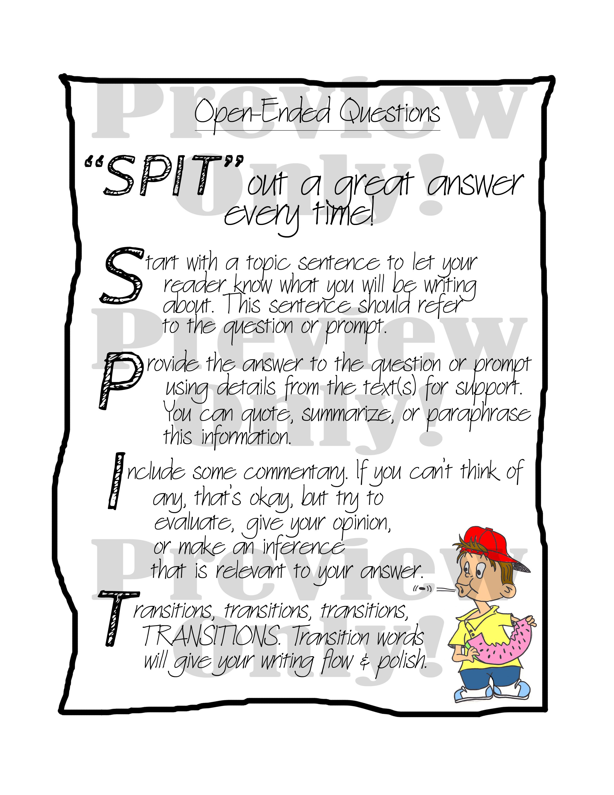 Do Your Students Need Some Direction For Answering Open