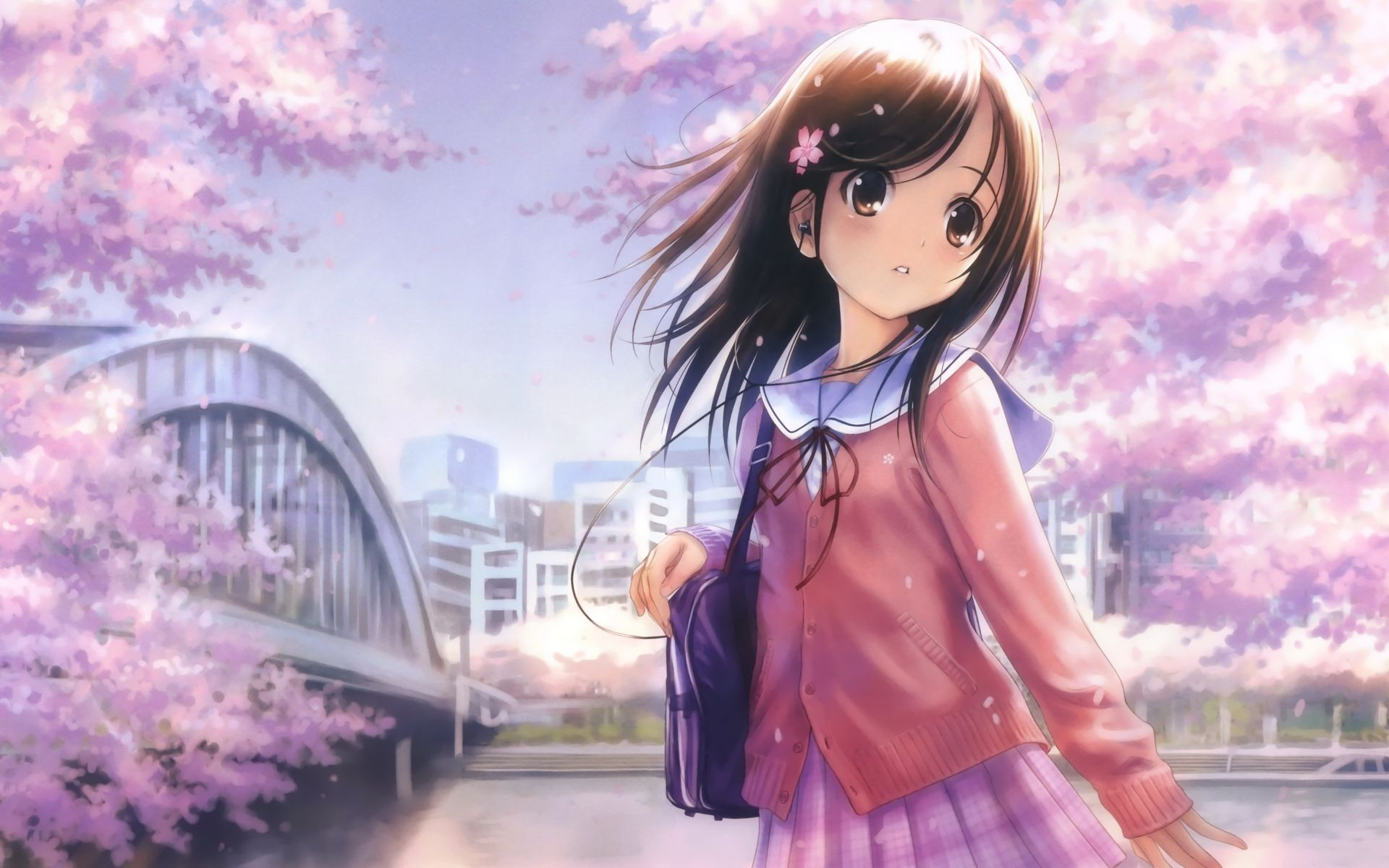Pin On Cute Anime Girl Hd Wallpapers
