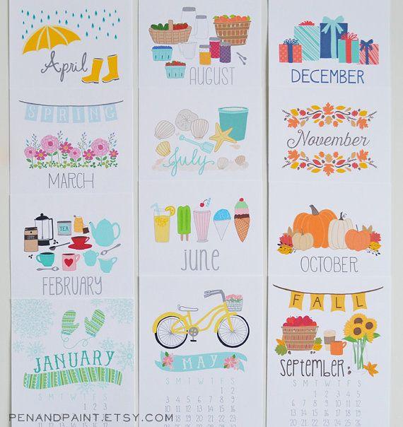 mini calendar 2015