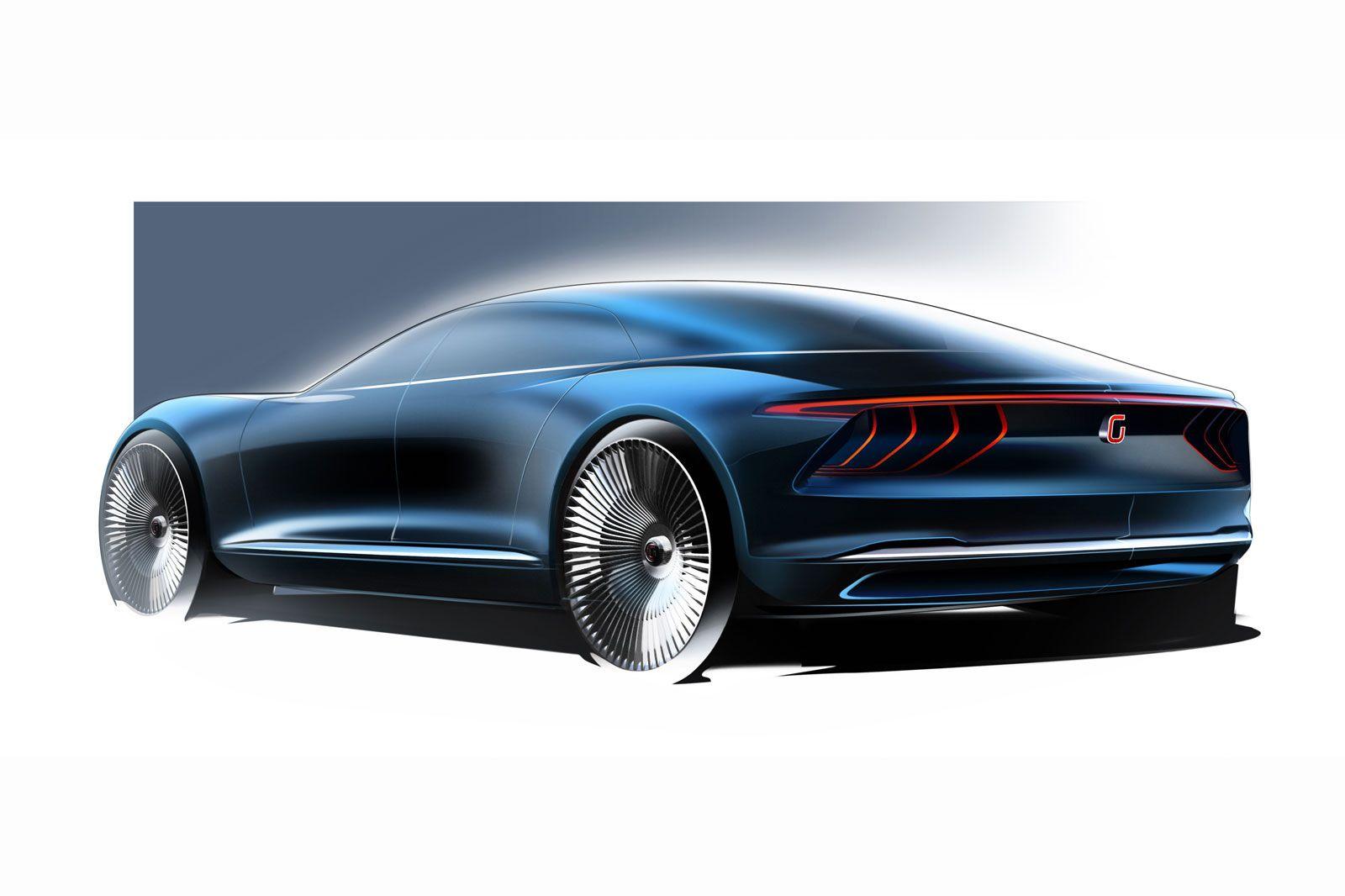 Italdesign Giugiaro GEA Concept - Design Sketch | Sketching | Pinterest