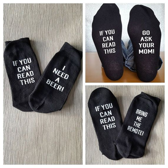 If You Can Read This Personalised Socks Off Duty Birthday Christmas Occasion