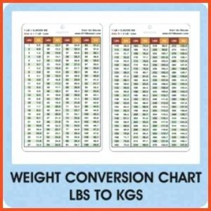 Kg Into Pounds Chart How To Convert Weight From Kilograms ...