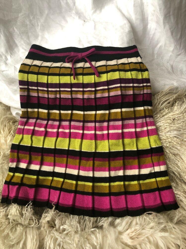 43c3f72ddb14 MISSONI for Target Girls Kids Pleated Striped Knit Skirt Size XL 4T ...