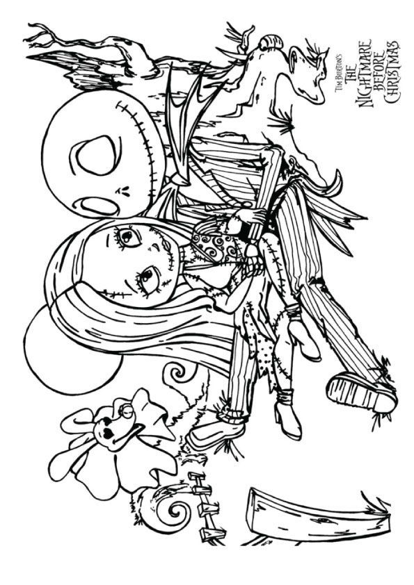 Top 25 Nightmare Before Christmas Coloring Pages For Your Little Ones Christmas Coloring Pages Halloween Coloring Pages Disney Coloring Pages