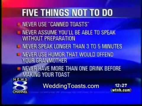 Professional Speaker Gives Tips On Wedding Speeches