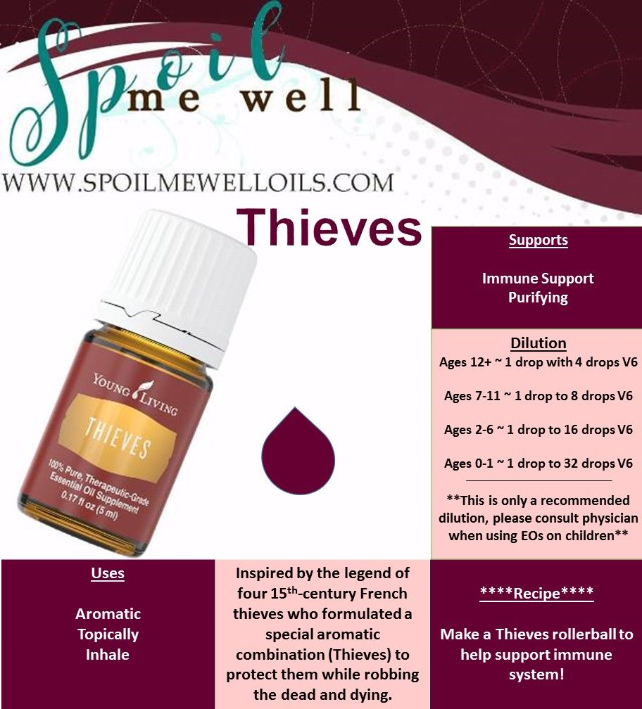 Thieves Oil Dilution Thieves Essential Oil Young Living Essential Oils All Natural
