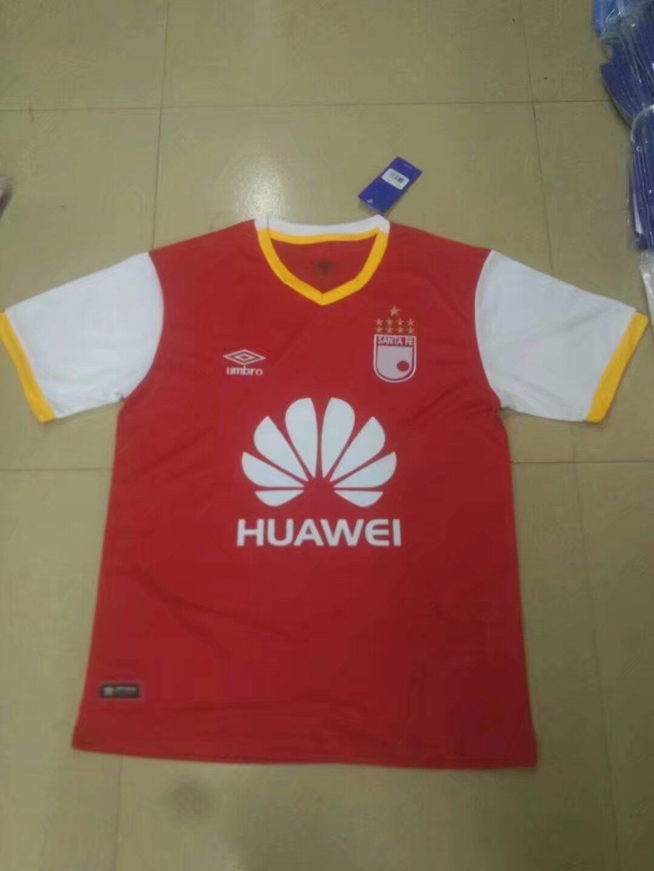 a9873d4a7 Huawei Independiente Santa Fe Jersey 2017 18 Red Soccer Shirt