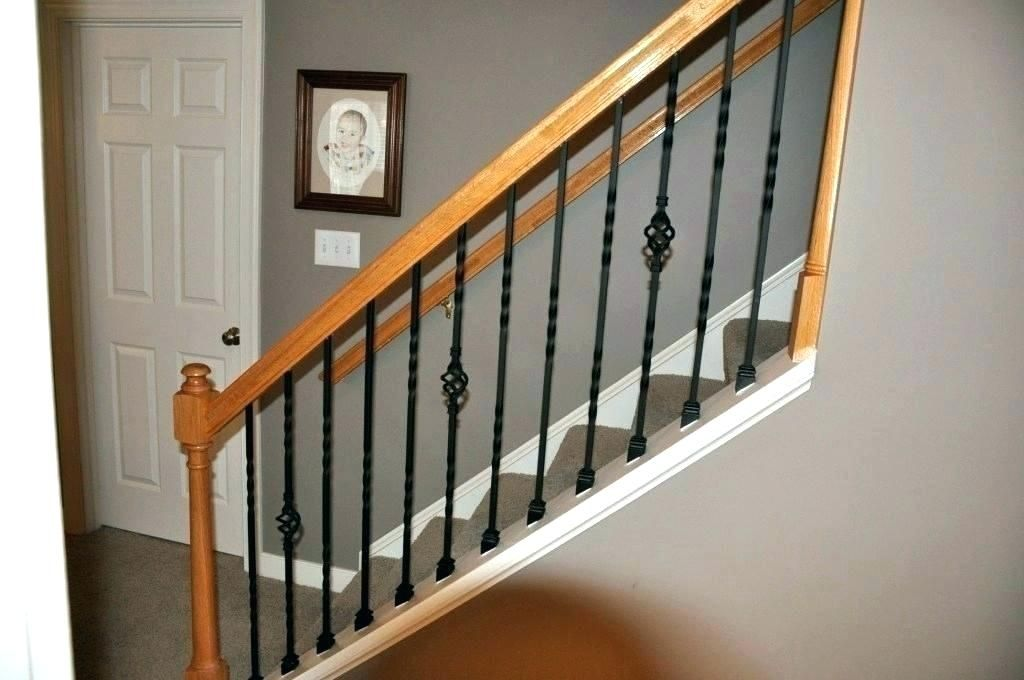 Metal Stair Spindles Punchngco Decorative Metal Spindles Decorative Metal Stair Nosing In 2020 Interior Stair Railing Iron Stair Railing Stair Railing Kits