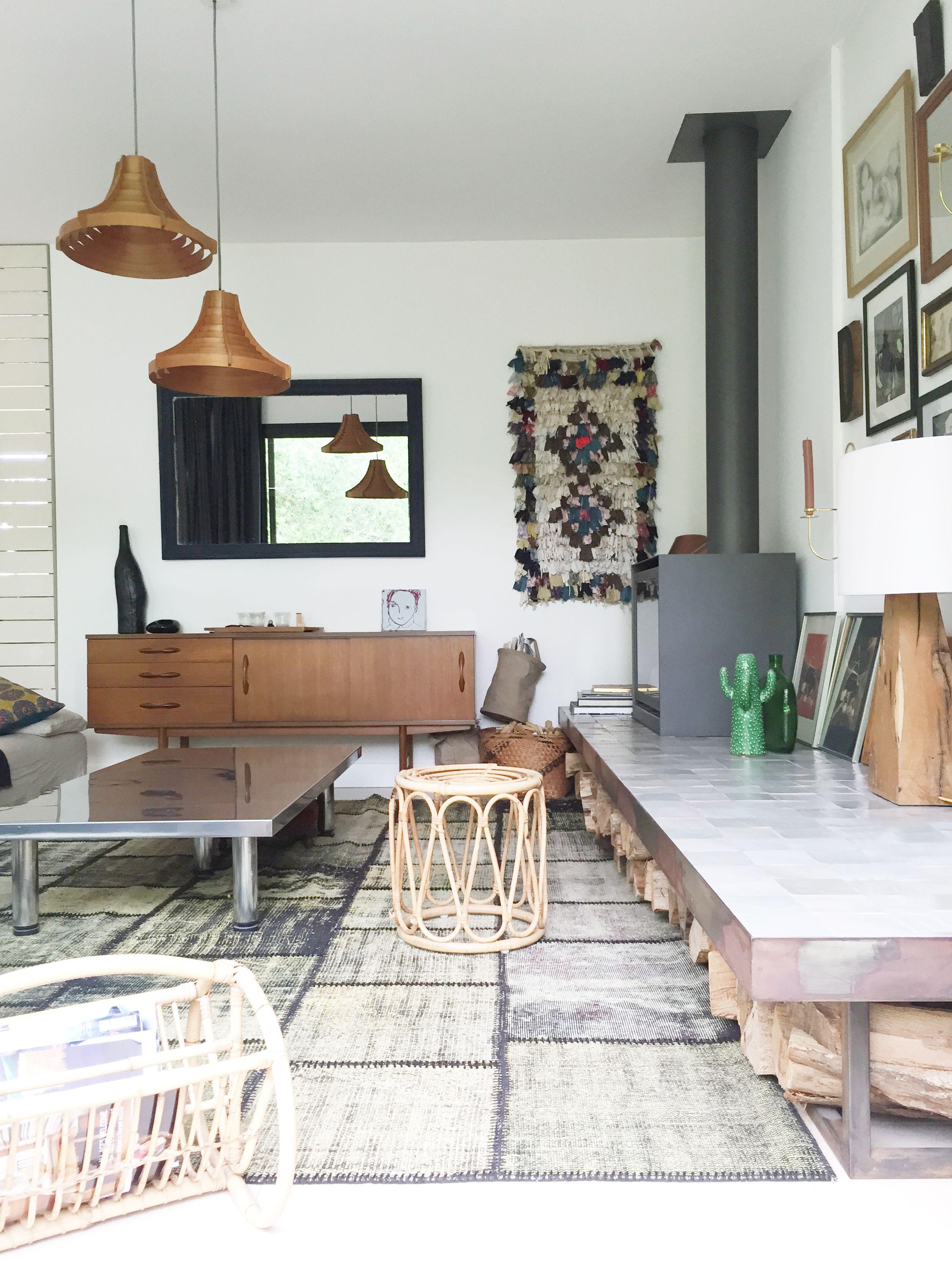 Brocante En Ligne Selency living room / bohemian and scandinave style / rattan