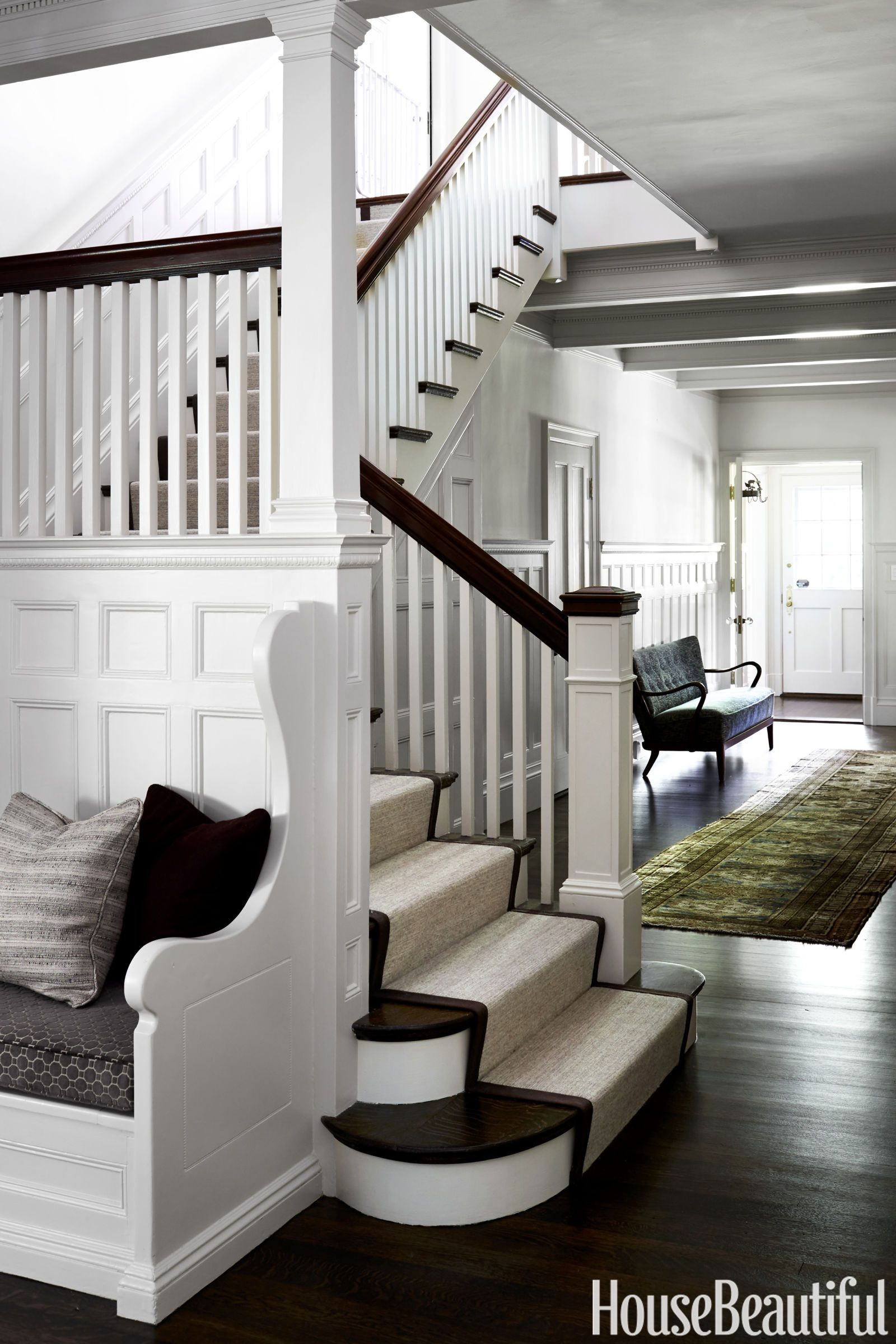 No Foyer Ideas : Jewel tones gave this boston home a no fuss refresh living rooms