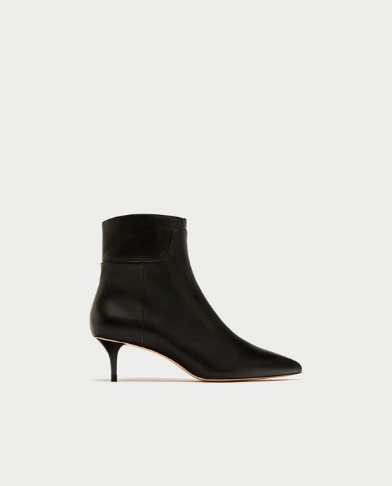 Mujer Zara Tacón Botín Zapatos Medio Wishlist Piel BfqfKwdr