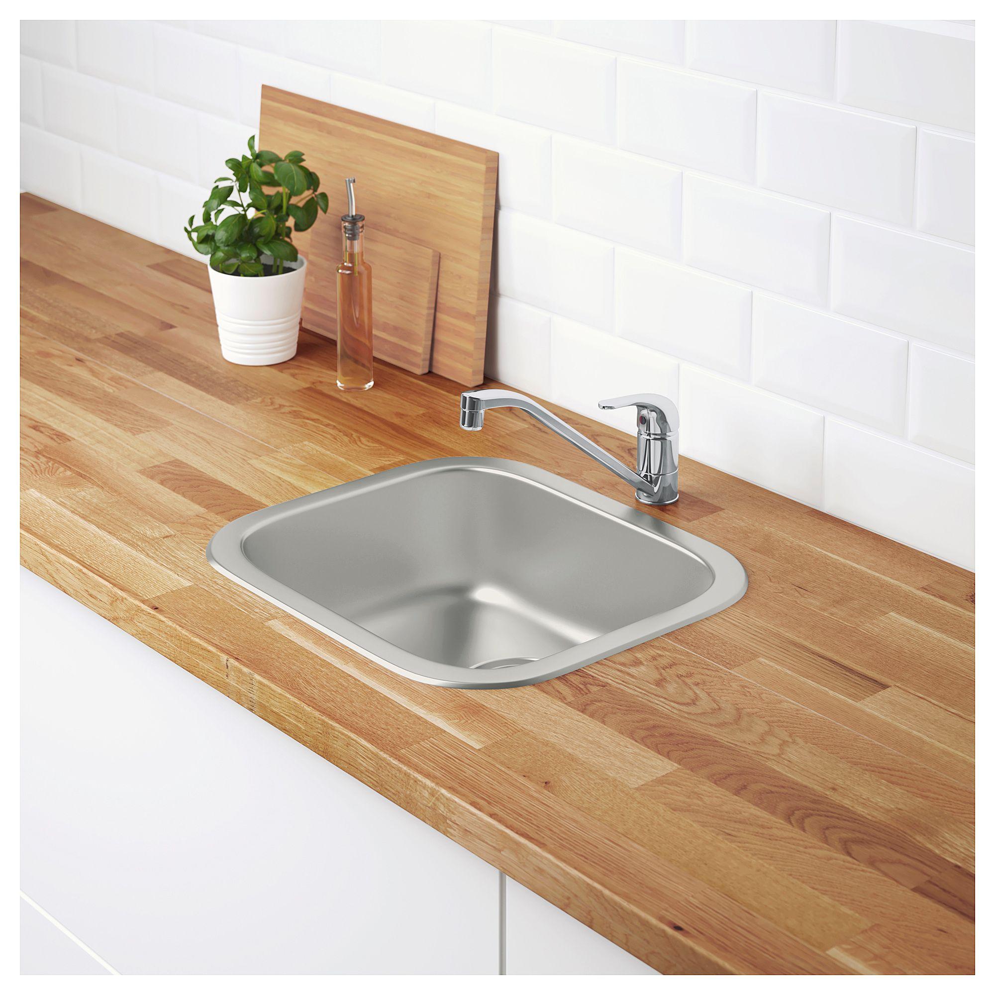 IKEA FYNDIG Sink stainless steel Inset sink, Sink