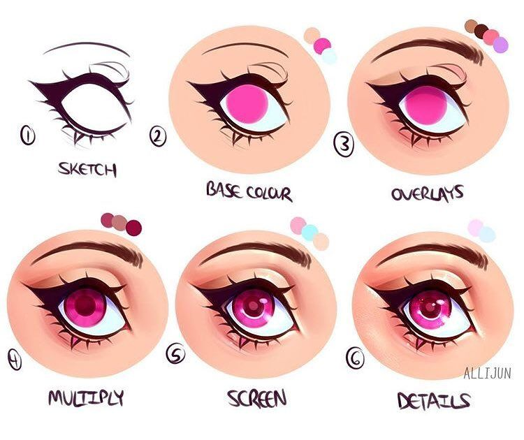 After Nailing Down Your Pose In Magicposer Learn How To Color In Those Anime Eyes With This Quick Tutor Eye Drawing How To Draw Anime Eyes Anime Art Tutorial