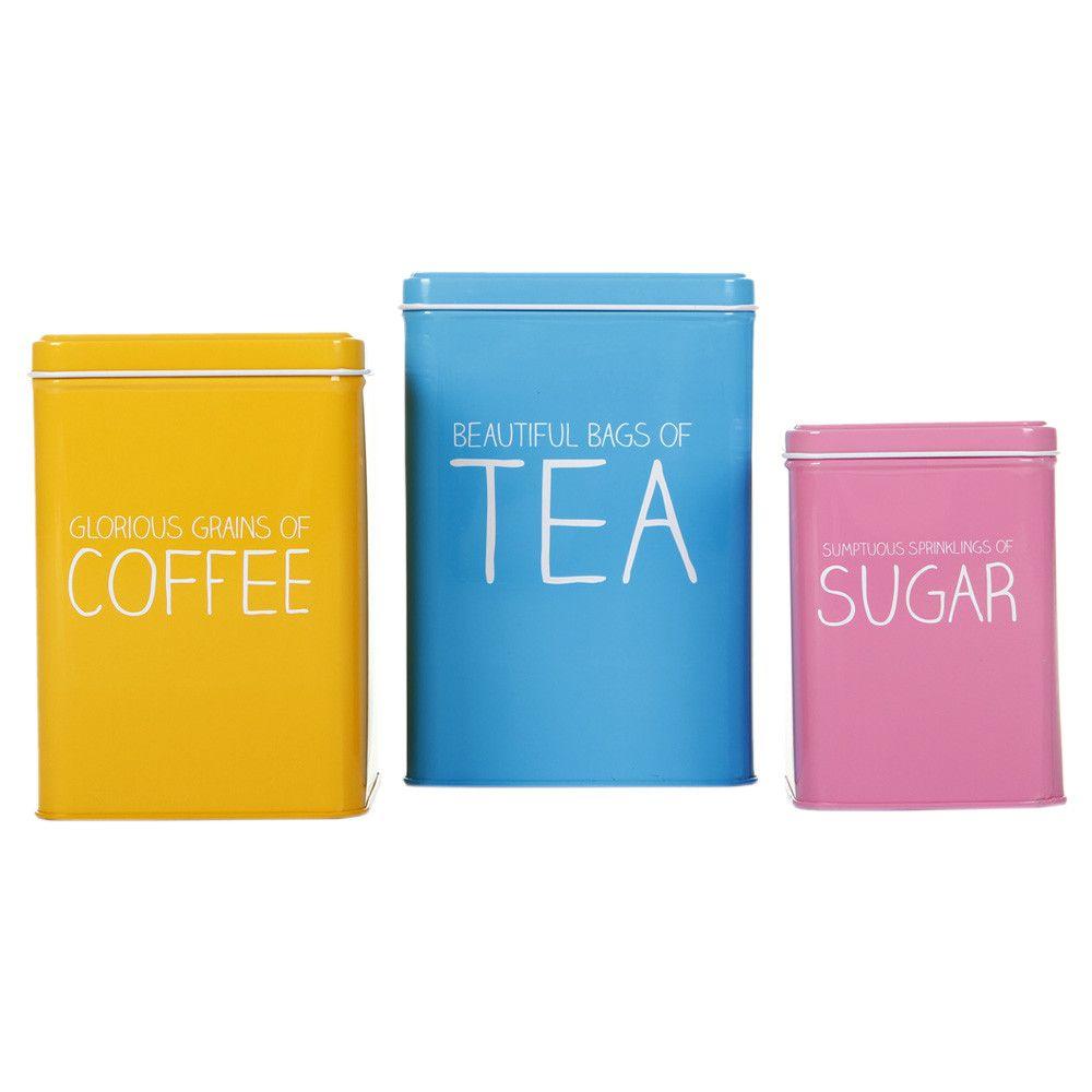Tea Coffee & Sugar Nesting Tins Happy Jackson