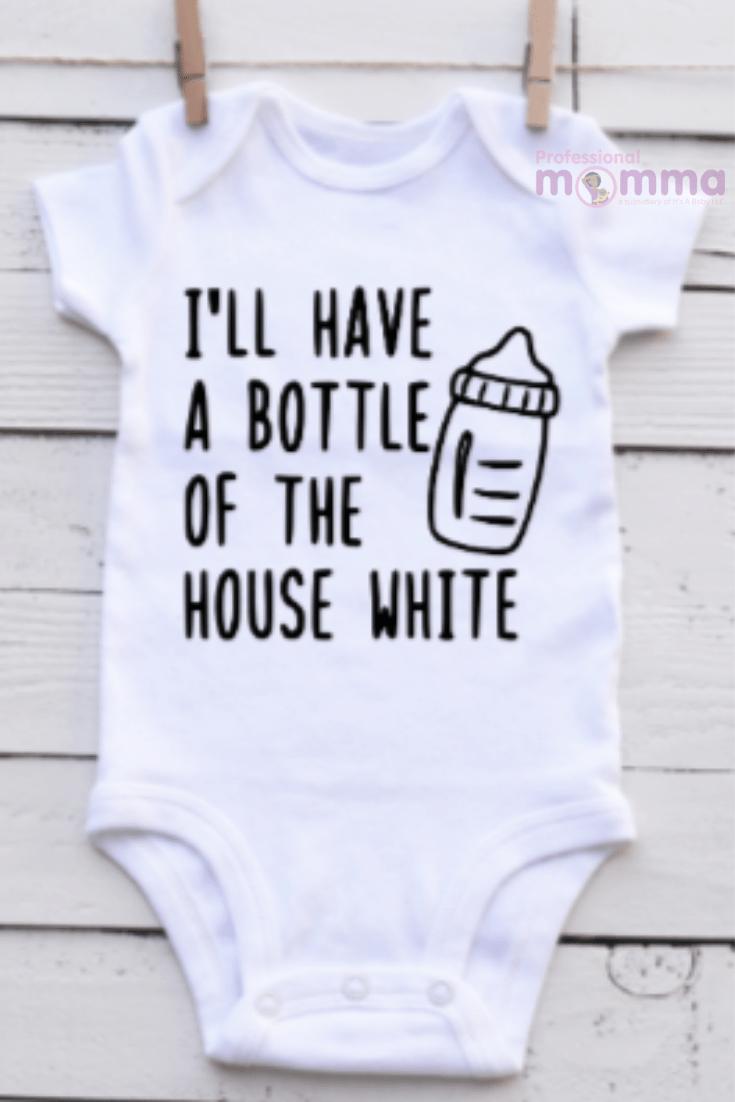 Breastfeeding Bodysuit: Bottle of the House White