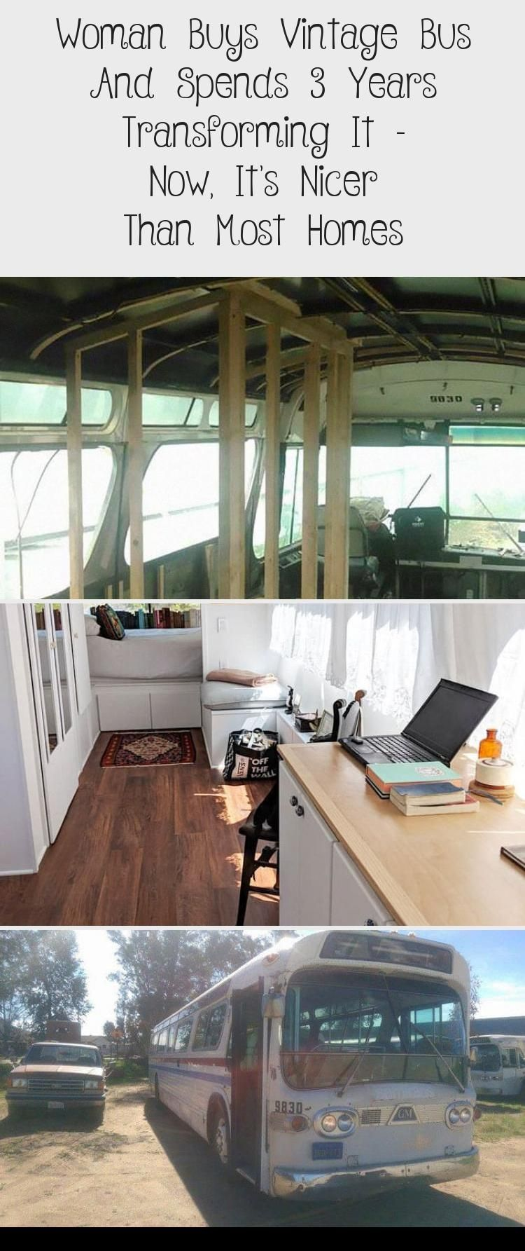 Woman Buy Vintage Bus And Transforms It Into Tiny Home # ...