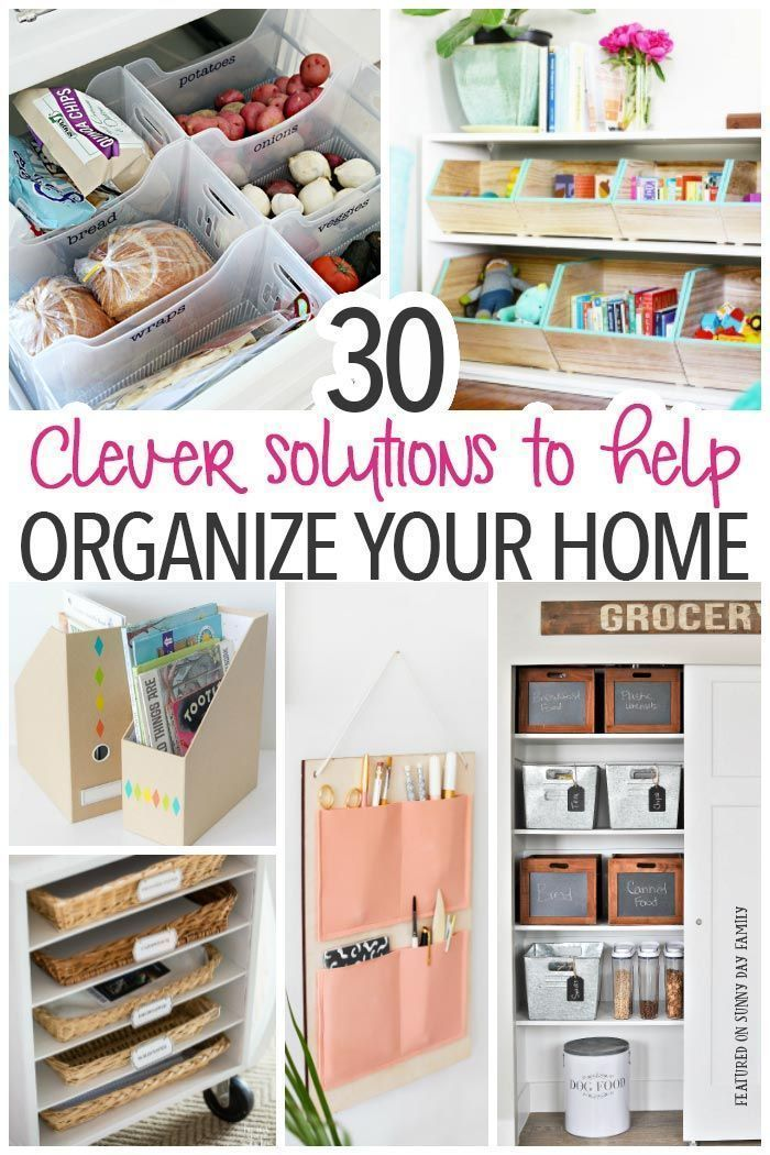 Organize your entire house with these awesome tips hacks and DIY storage projects! Whether you need to organize the kitchen clean up the pantry u2026  sc 1 st  Pinterest & Organize your entire house with these awesome tips hacks and DIY ...