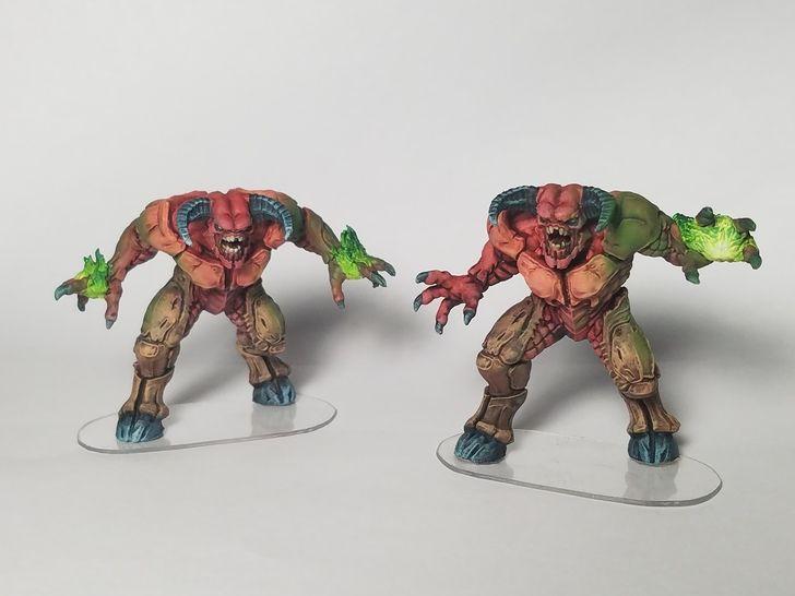 doom 2016 board game demons painting progress miniatures