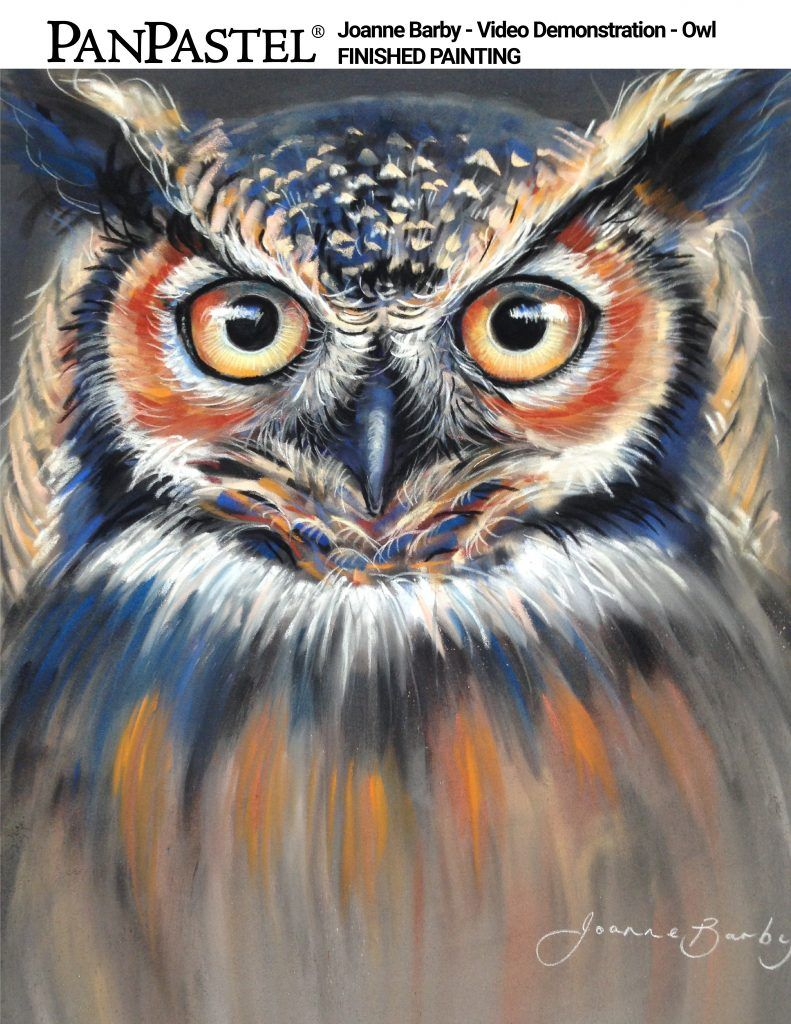 VIDEO: Owl Painting Demonstration   Paint. Draw. Blend.   PASTELS ...