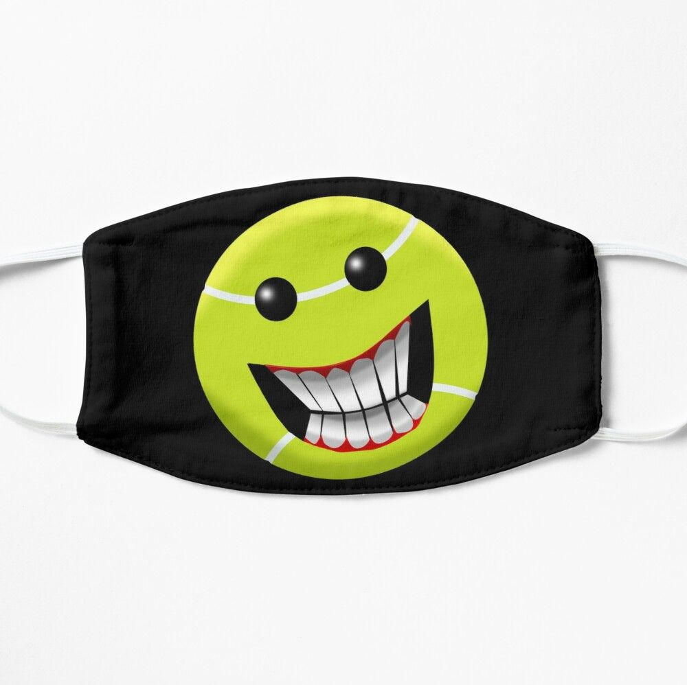 Tennis Ball Smiley Face Mask By Wickedcartoons In 2020 Mask Face Mask Diy Face Mask
