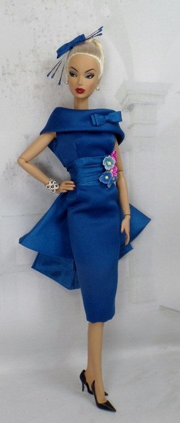 Endless NIght for Silkstone Barbie and Victoire by MatisseFashions  BLUE -SEA **+