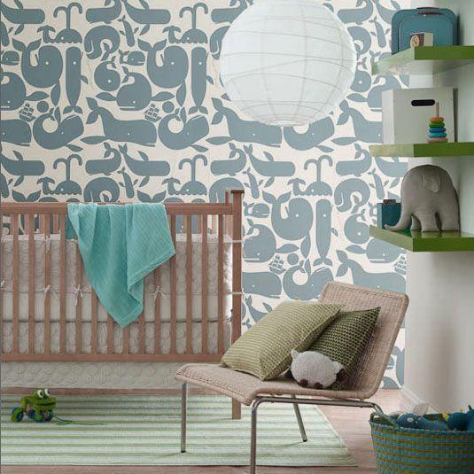 Baby Nursery Decor Awesome Kidsroom Boy Wallpaper Ideas Wonderful Decoration Chair Seating Pillow Blue Towel Best