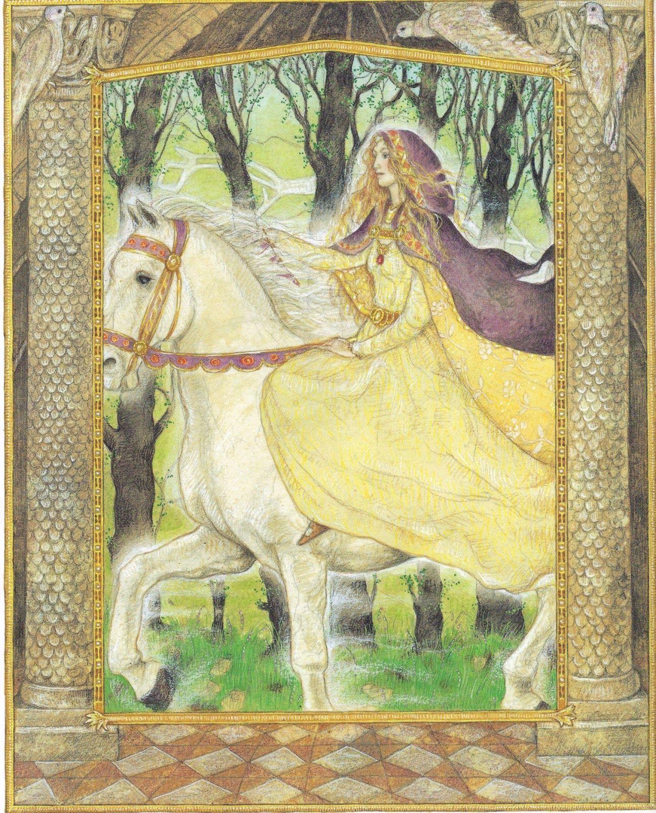 Owl greeting card set welsh artist jen delyth celtic art studio - The Goddess Rhiannon