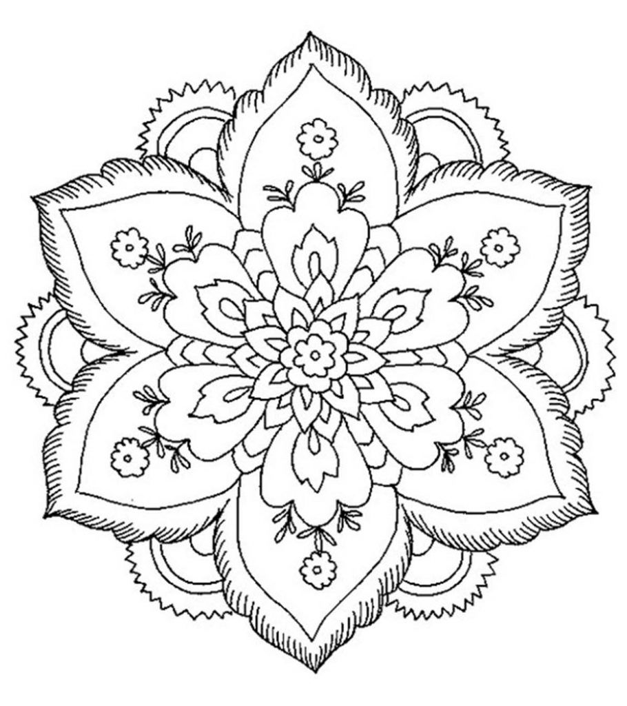 Abstract Coloring Pages Free Printable Momjunction Abstract Coloring Pages Flower Coloring Pages Mandala Coloring Pages