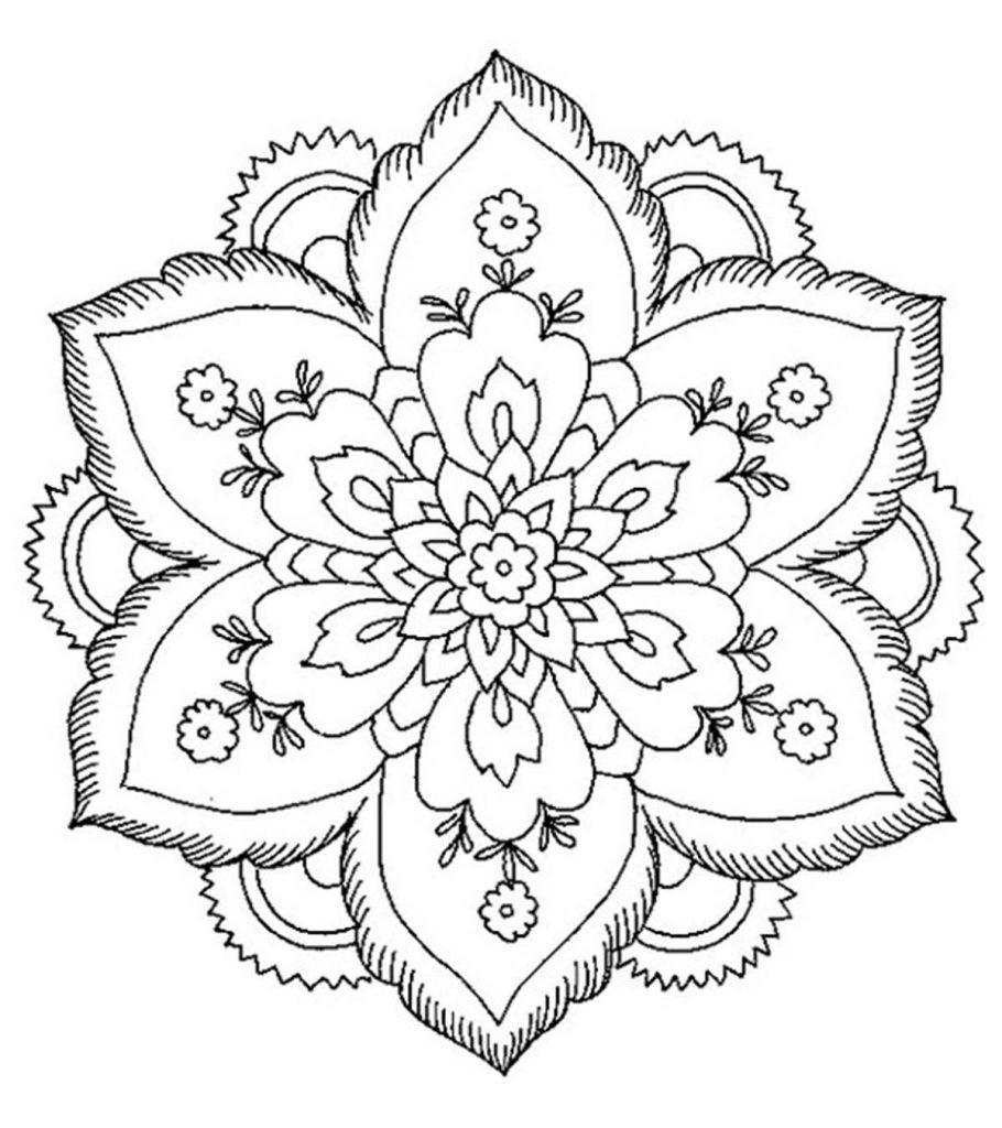 8ecec786665c662283f9f9f849af381a » Mandala Flower Coloring Page