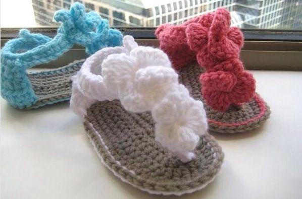 Cute knitted sandals
