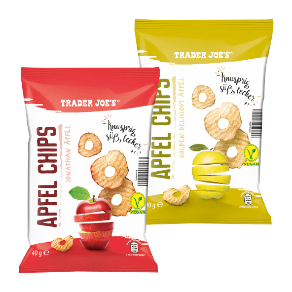 TRADER JOE'S Apfel Chips von ALDI Nord Apfel, Vegane