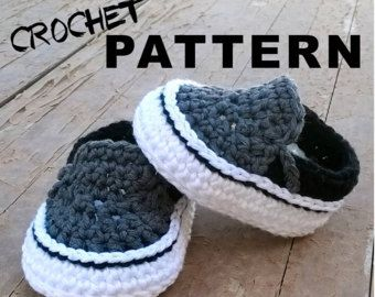 f063667fe1e3 Crochet PATTERN. Air Jordans style baby by ShowroomCrochet on Etsy