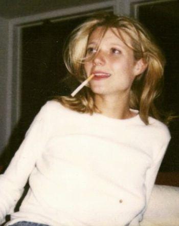 Hasn't Aged! Gwyneth Smokes Cigarette With Ex in 1