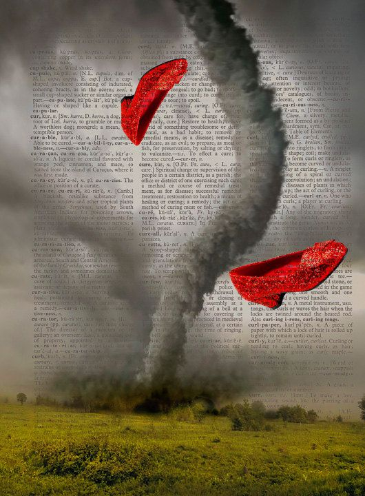 Wizard Of Oz Touch The Red Slipper Then The Tornado : wizard, touch, slipper, tornado, Dorothy's, Shoes, Wizard, Print, Tornado, Color,, Tattoos