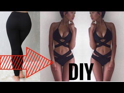 0a7ed2556b6 How To Turn Your Old BORING Leggings Into A BIKINI | DIY Bikini Hacks -  YouTube