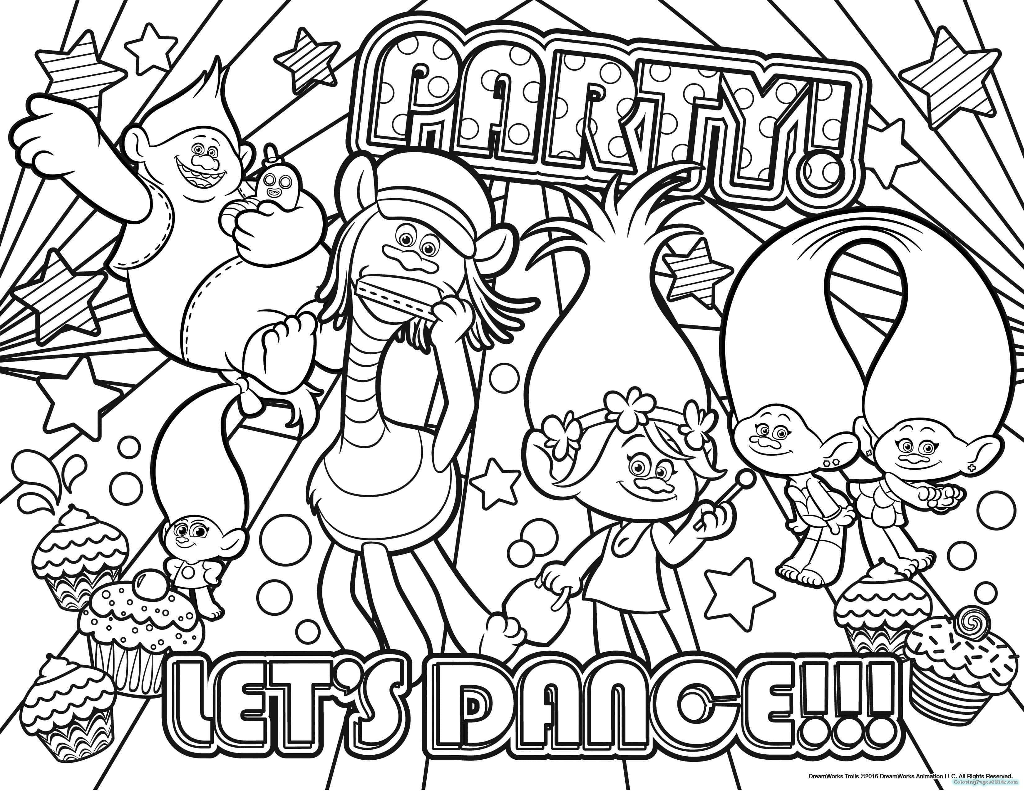 Trolls Cast Coloring Pages From The Thousands Of Photographs On The Internet In Relation To Trol Poppy Coloring Page Star Coloring Pages Dance Coloring Pages