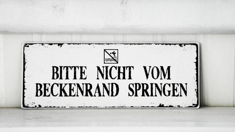 Bad Accessoires   Shabby Vintage Holz Schild BECKENRAND Nostalgie   Ein  Designerstück Von Homestyle
