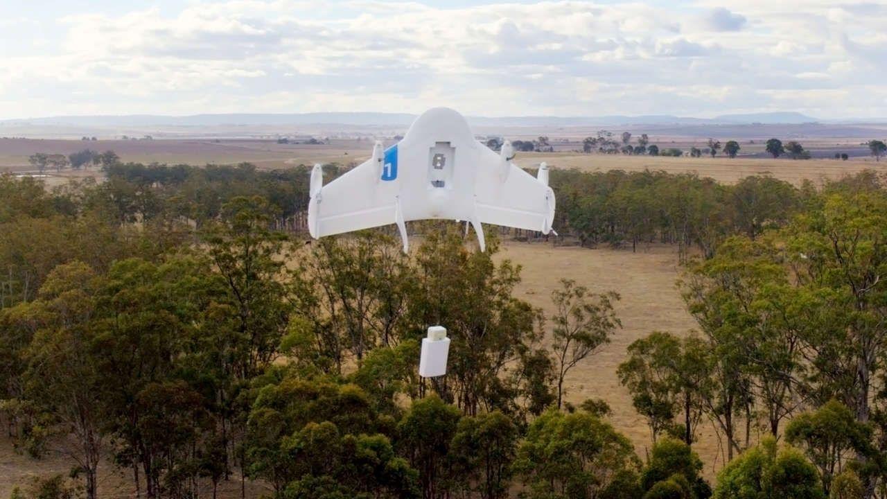GOOGLE UND AMAZON Internet-Giganten starten Roboter-Drohnen