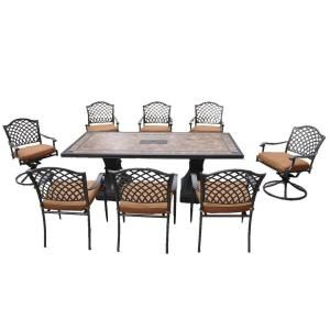 Hampton Bay Shelbyville 9 Piece Patio Dining Set S9 ABC02700 At The Home  Depot