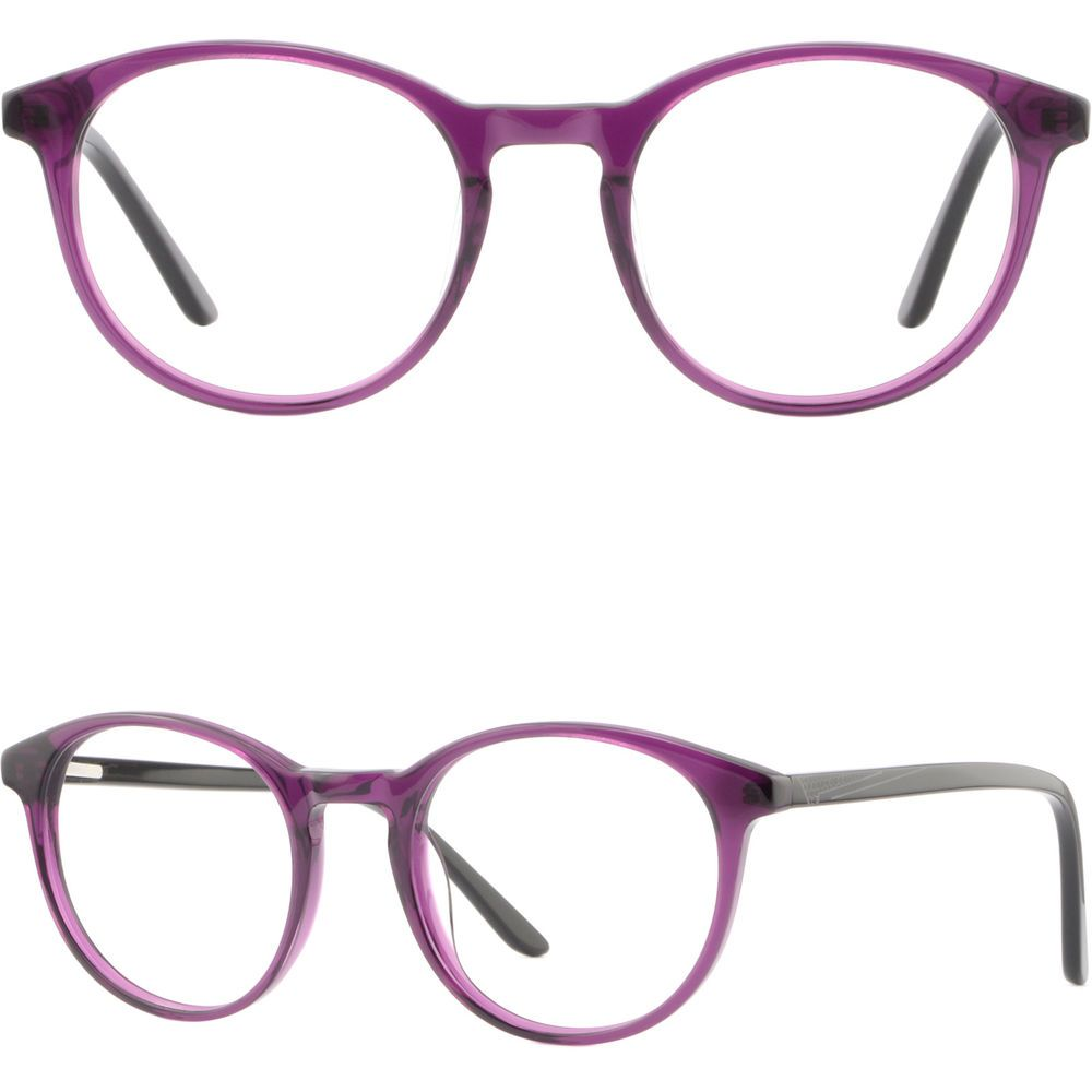 ec673bb358 Round Women s Acetate Plastic Frames Spring Hinges RX Glasses Eyeglasses  Purple