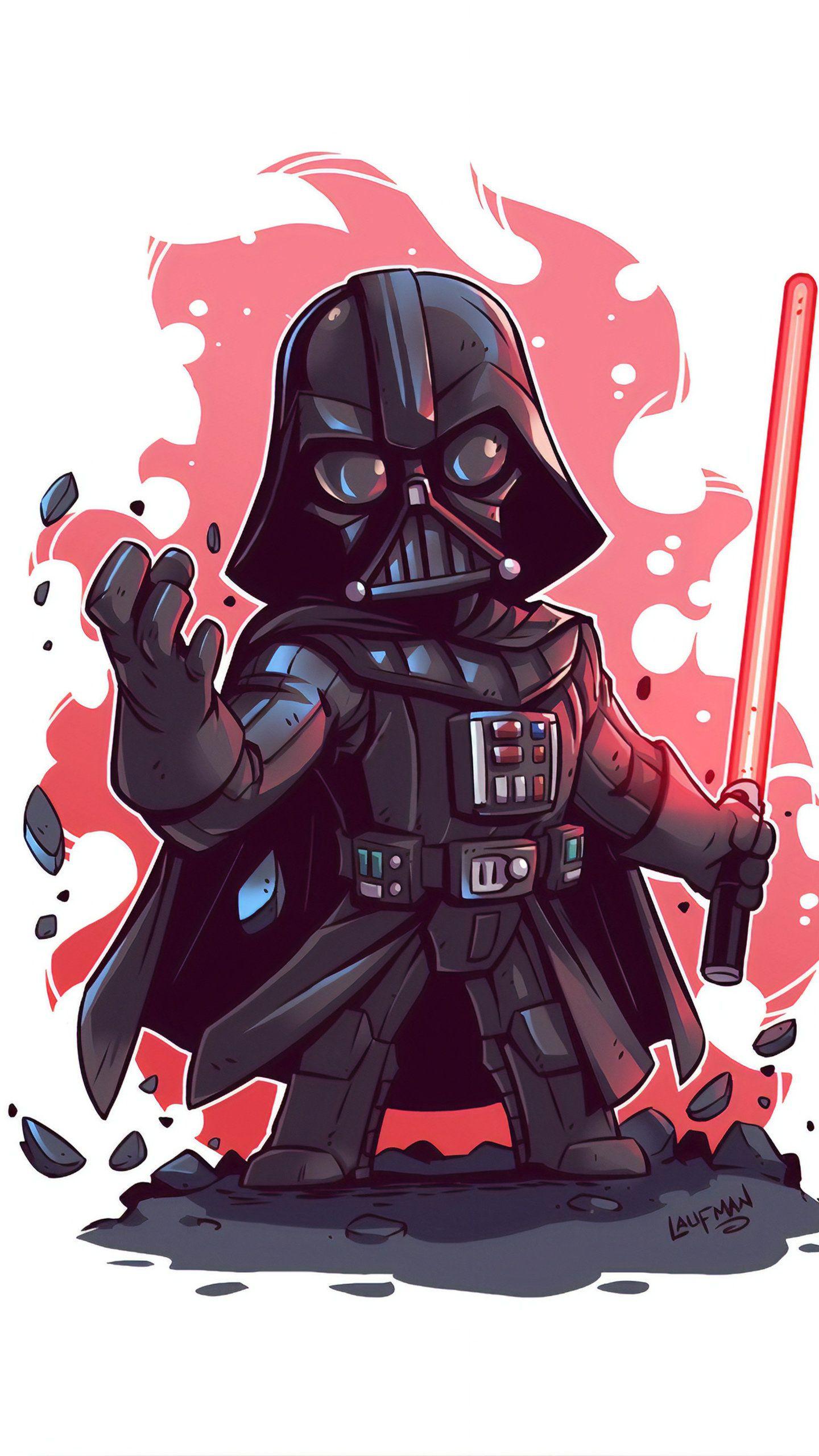 Darth Vader Minimal Art 4K HD Wallpaper in 2020 Star