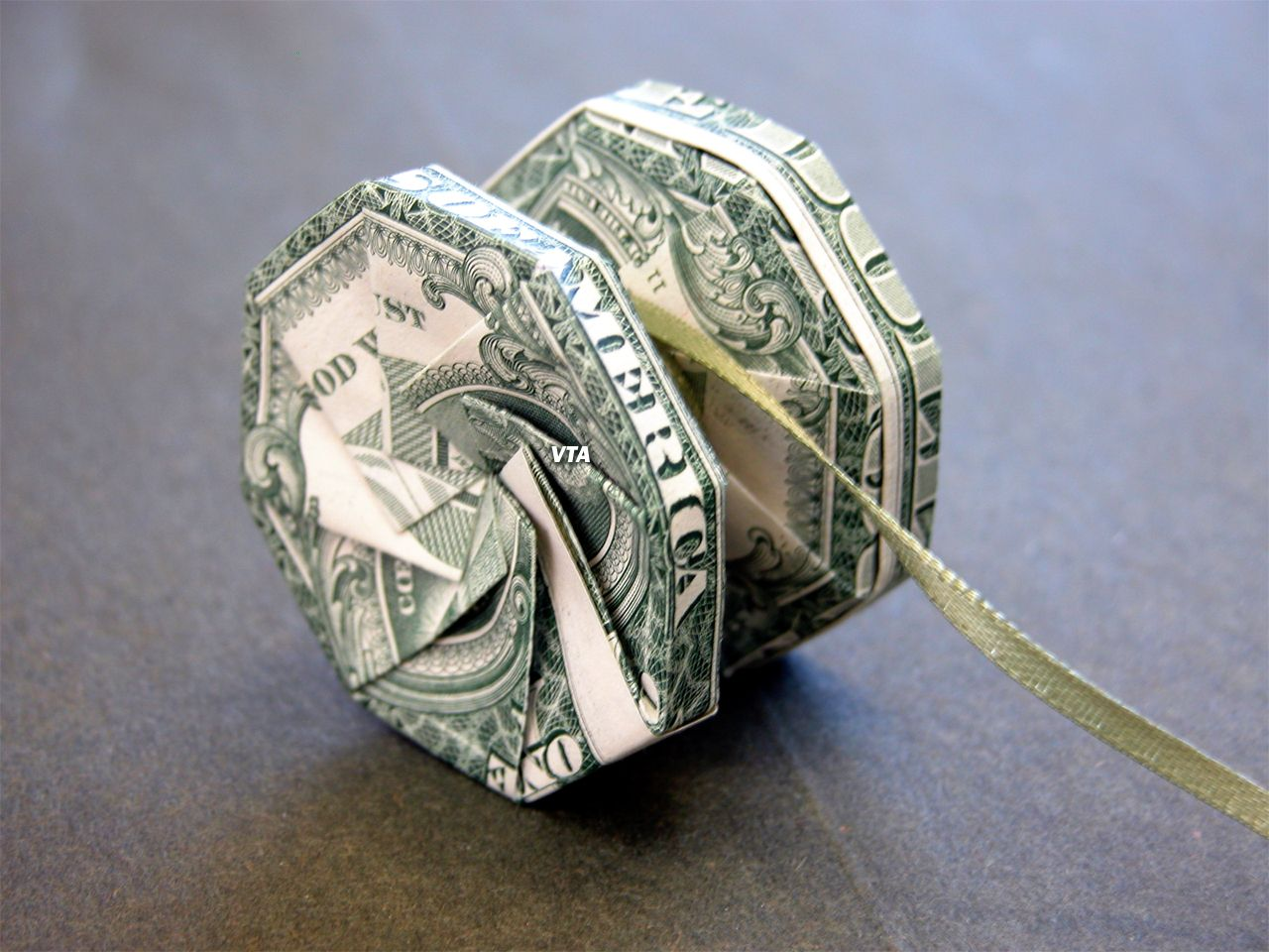 Dollar Origami Yo-Yo | Money Dollar Origami | Money ... - photo#37