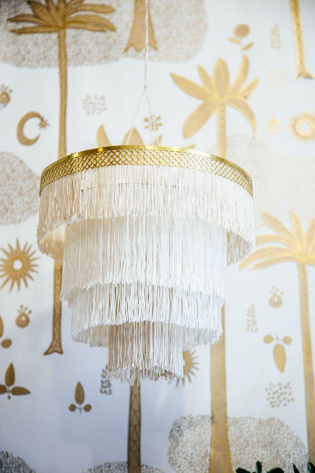 DIY boho Fringe Chandelier | Chandeliers, Boho and Craft