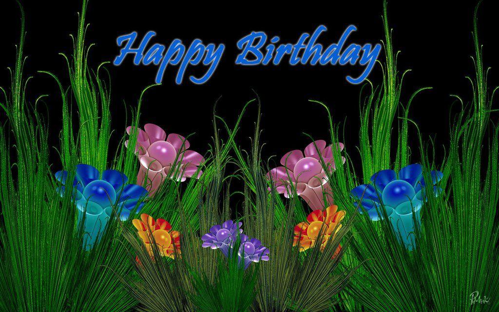 Happy Birthday Fractal Google Search Happy Birthday Cards Pinterest Happy Birthday