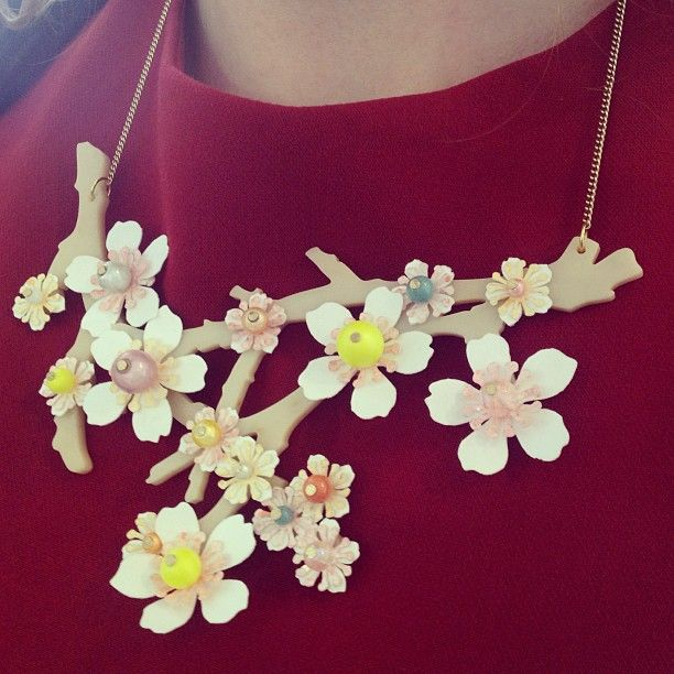 Tatty Devine - Blossom Branch Necklace - £160.00 - SS 2013