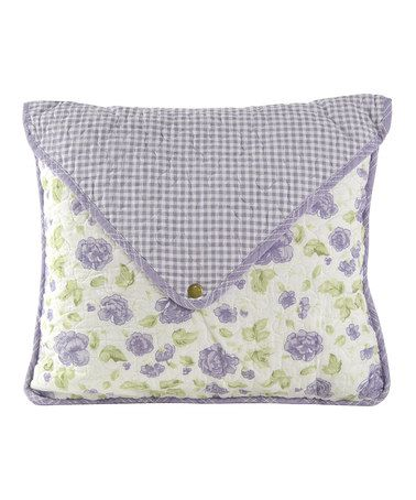 Another great find on #zulily! Lavender Rose Envelope Decorative Pillow #zulilyfinds