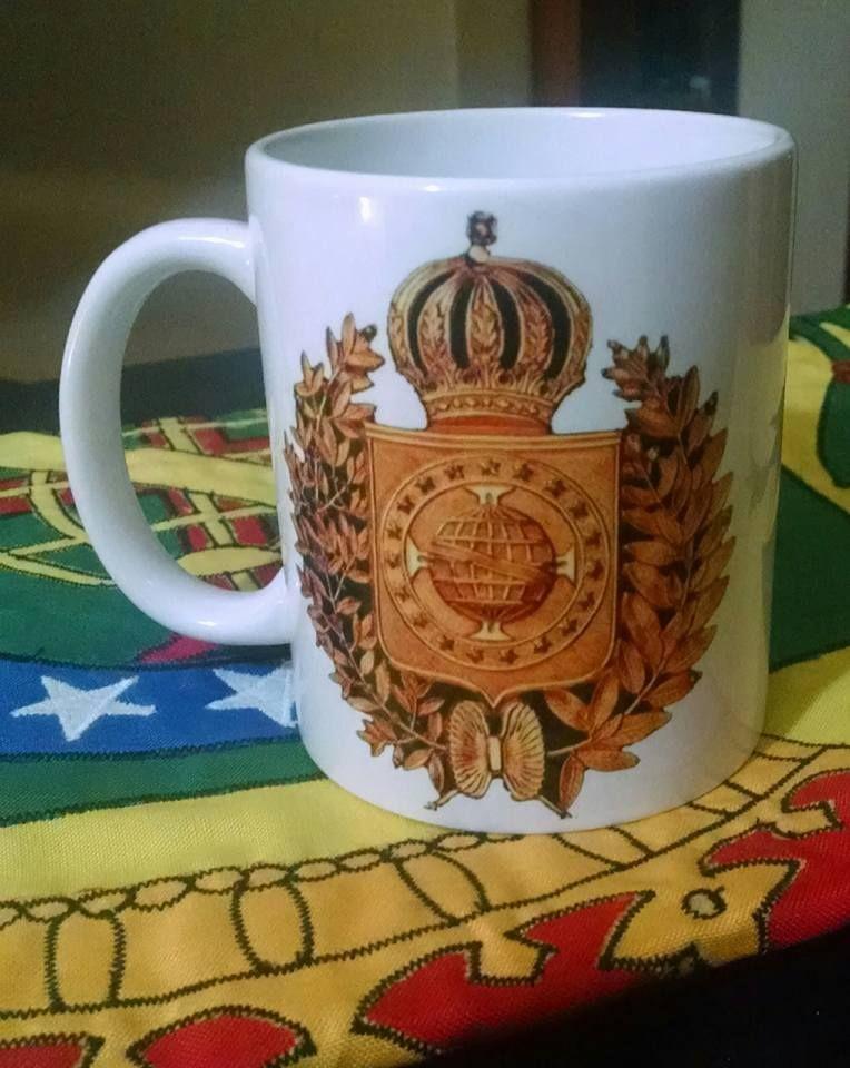 Caneca com a MAJESTOSO BRASÃO DO  IMPÉRIO DO BRASIL! #Monarquia #Brasil #MonarquiaParlamentarista