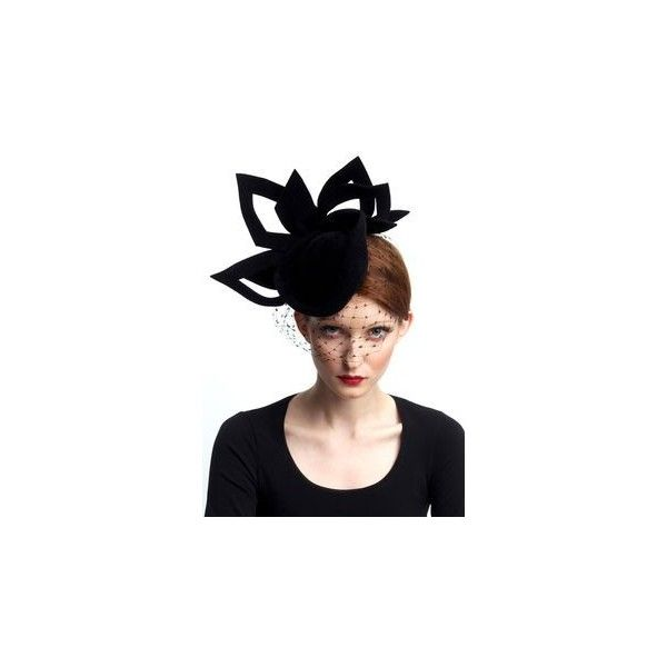 a7b8588ca0d Maggie Mowbray Millinery ❤ liked on Polyvore featuring accessories ...