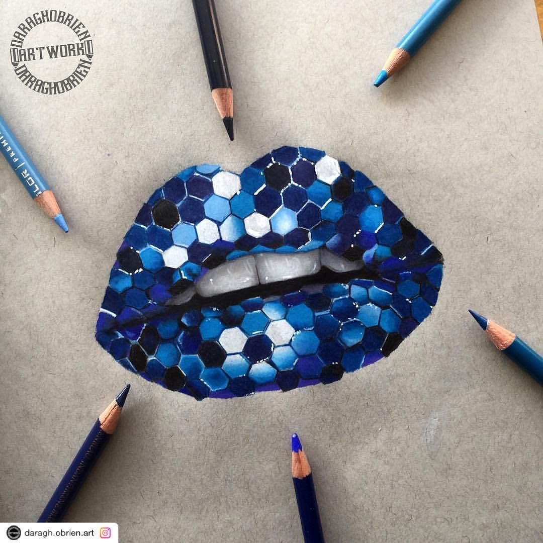 "Photo of Babsy S. on Instagram: ""Reposted using @ziapplications  #ziapplications ・・・ ""💙Blue sparking Lips💙sorry for posting this twice this is just a different angle…"""