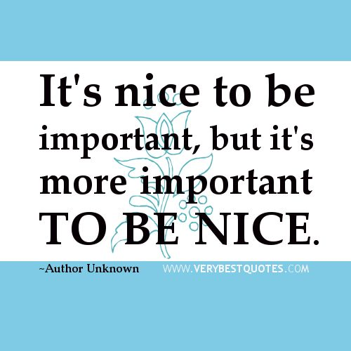 Kindness Quotes Kindness Quotes Its Nice To Be Important But Its